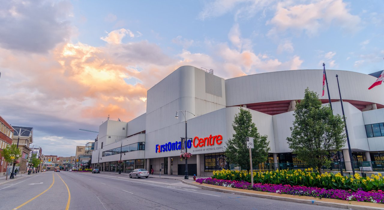 FirstOntario arena in downtown Hamilton