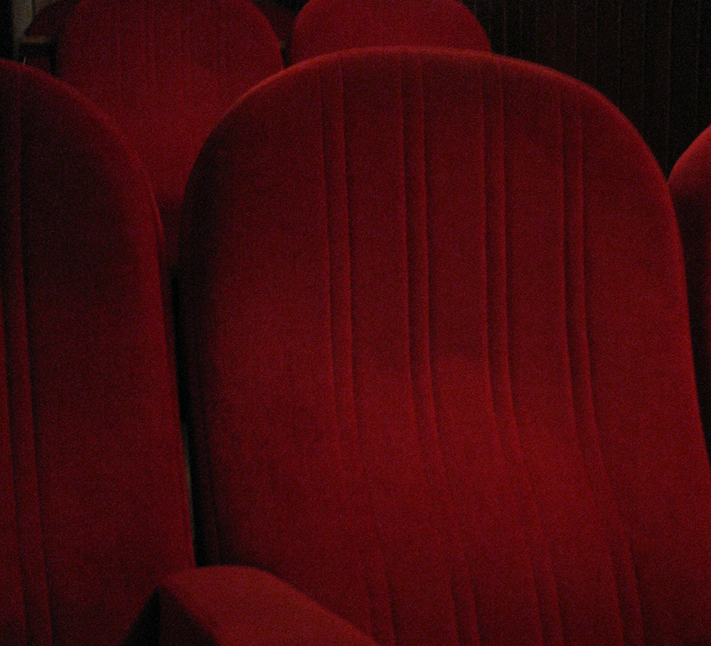 close up of theatre seat