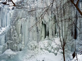 Frozen Tiffany Waterfalls