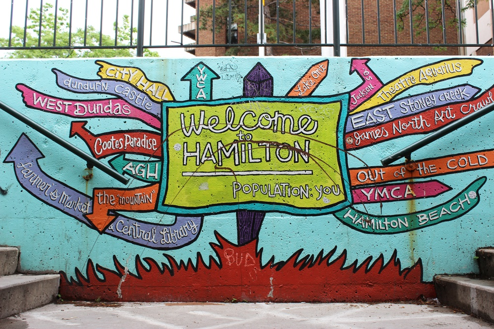Welcome to Hamilton mural