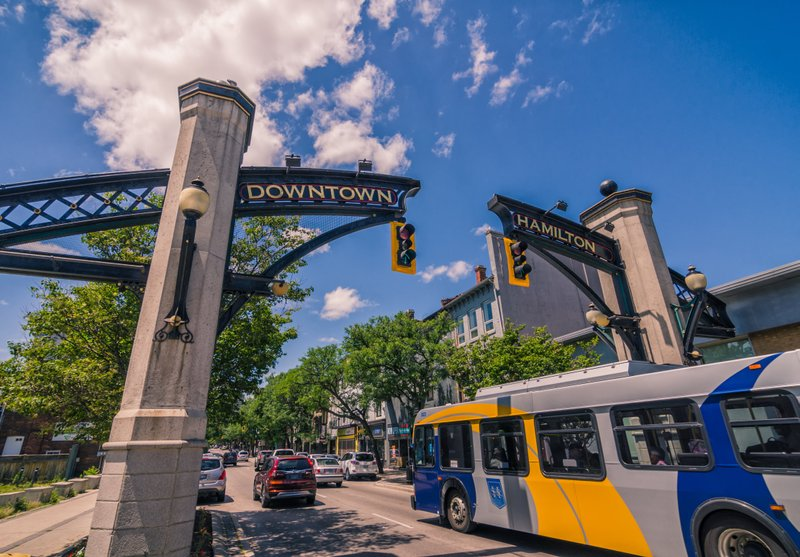Downtown Hamilton sign