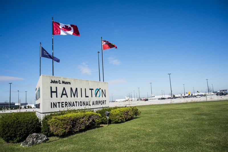Hamilton Airport sign