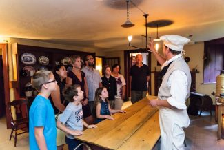 Dundurn Castle guided tour of kitchen