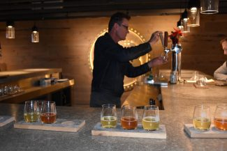 West Avenue Cidery flights