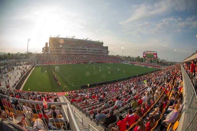 Women's international soccer event at Tim Horton's Field