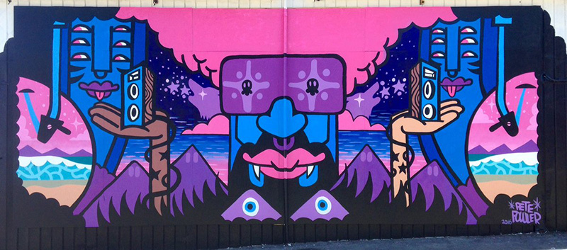 Dr. Disc mural