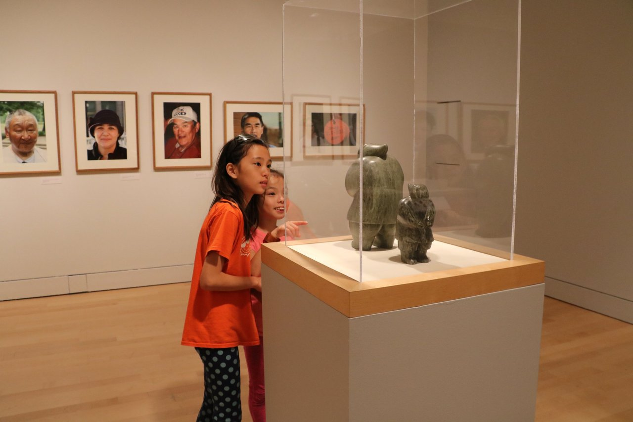 Children exploring exhibit