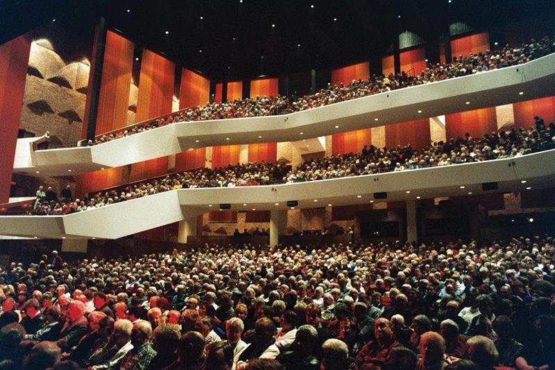 Concert audience in the dark