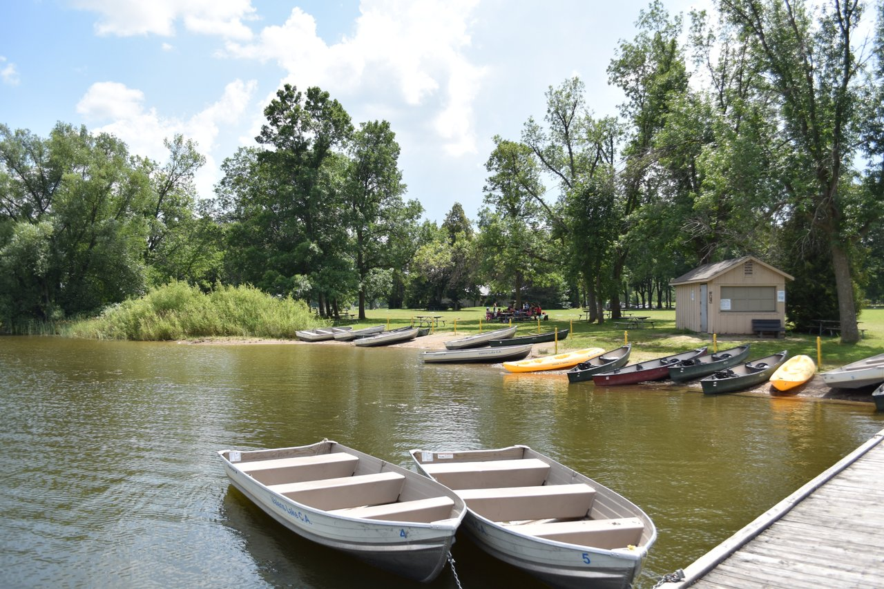 Valens lake with boats