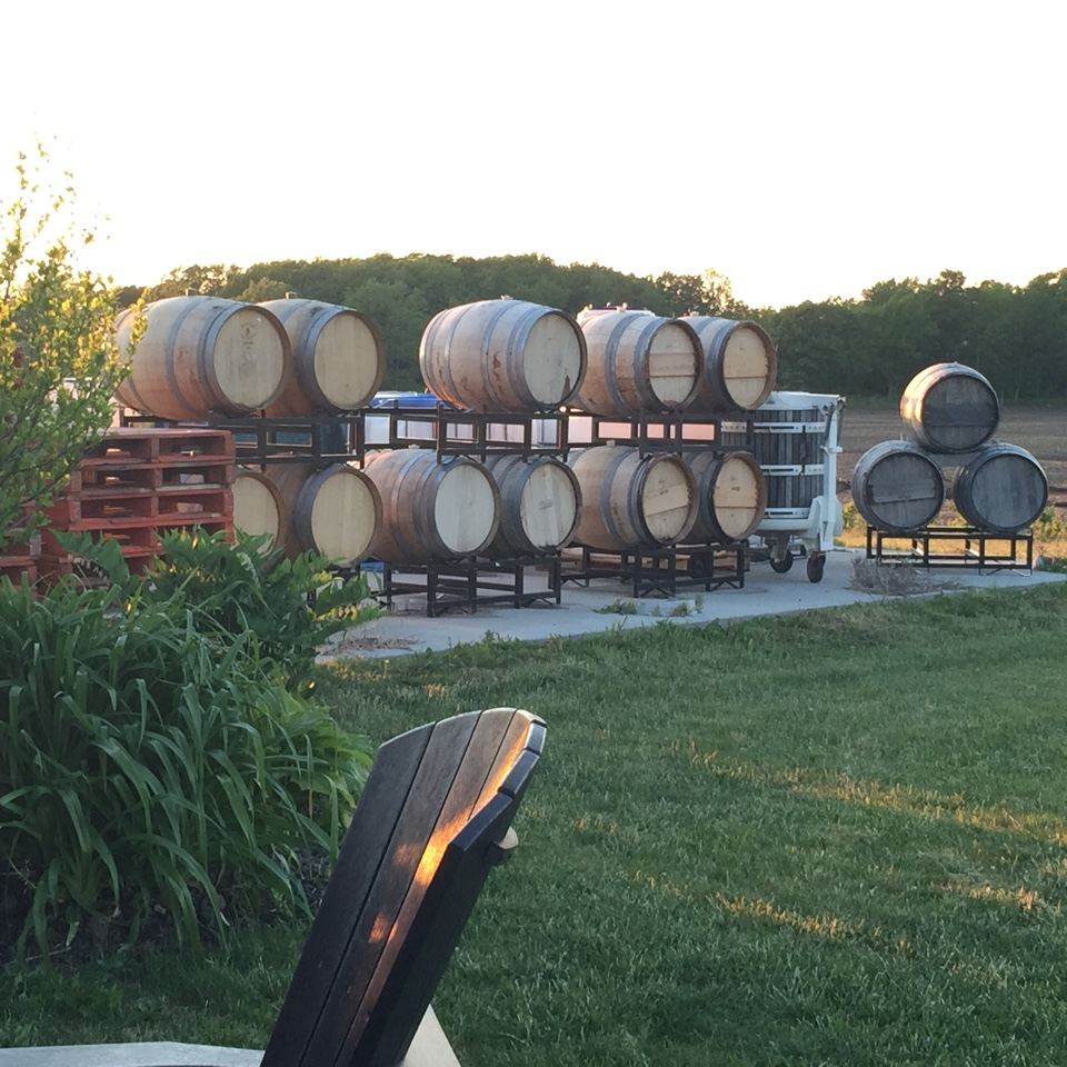 Ridge Road barrels in field