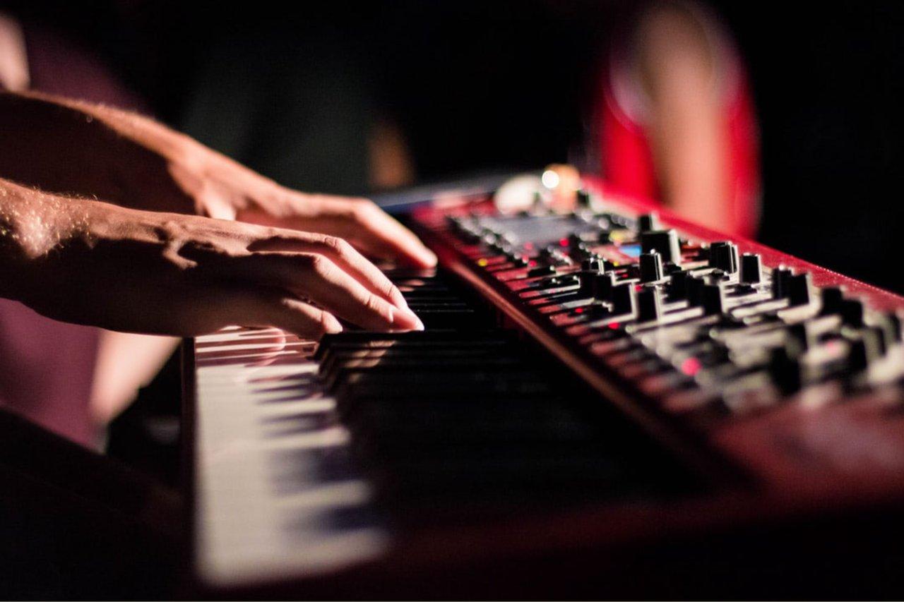 Fingers on a keyboard