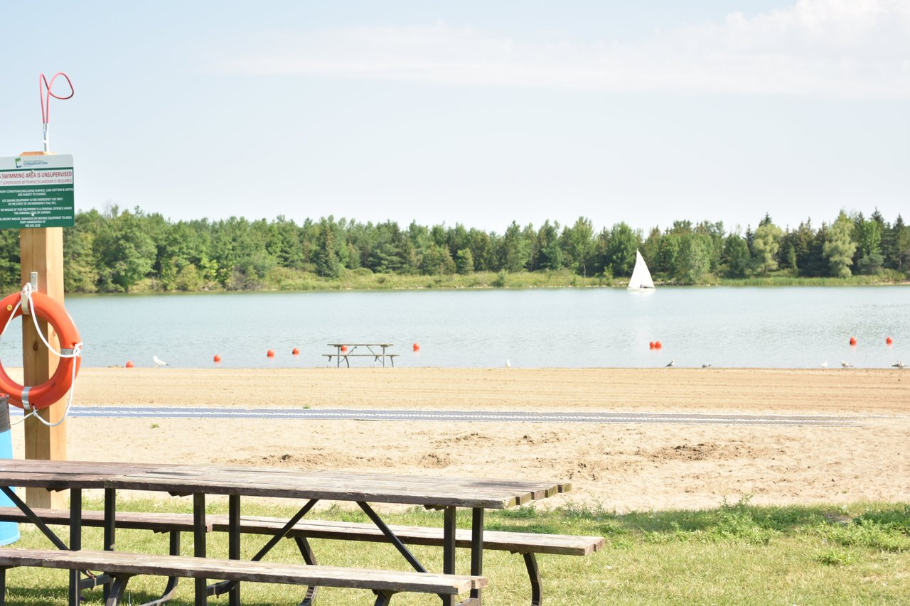 Beach at conservation area