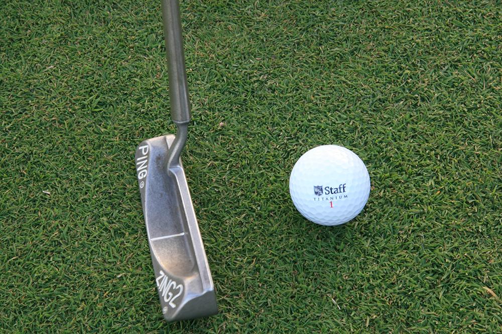 Golf ball on greens