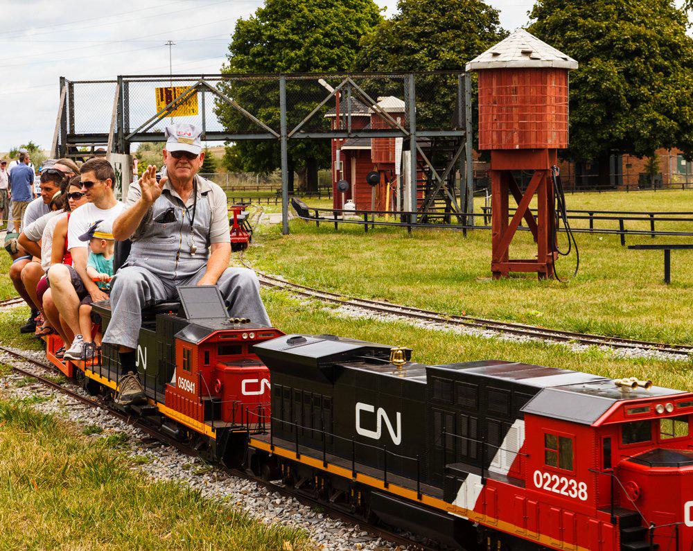 Steam museum train ride