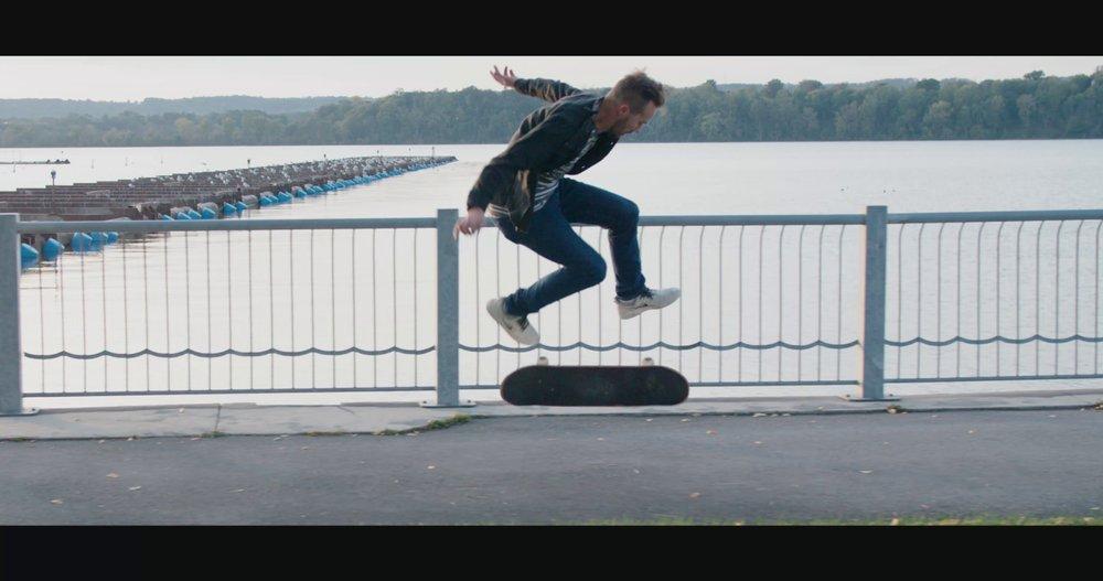 Bayfront skateboarder