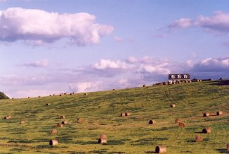 Haybales on the hill