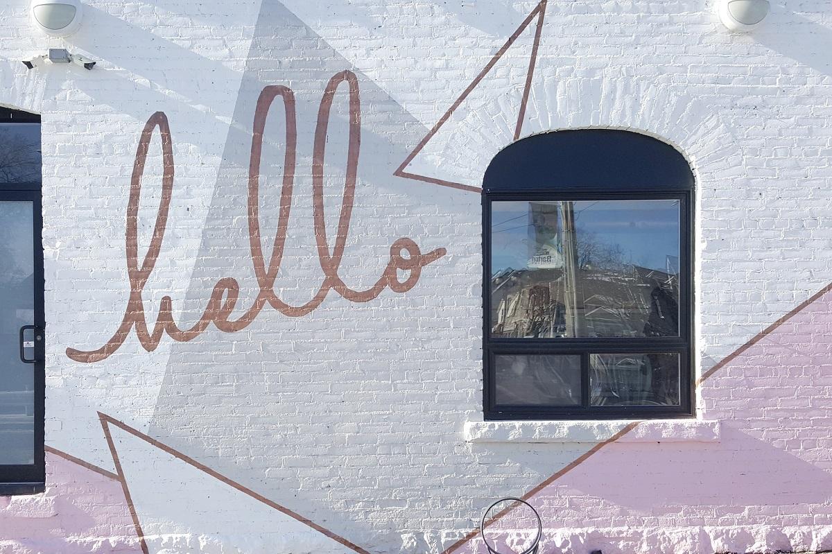 Hello Baked mural