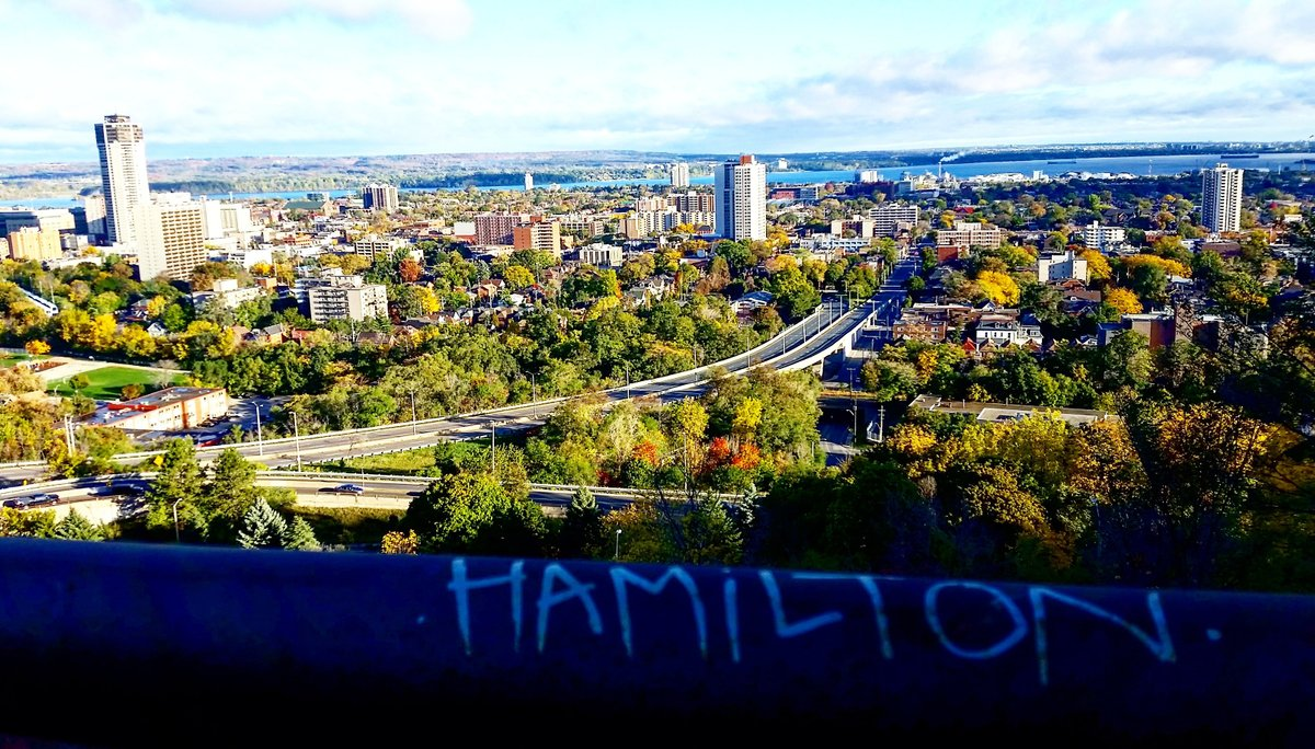 Hamilton viewed from escarpment
