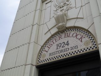 Lister Block plaque