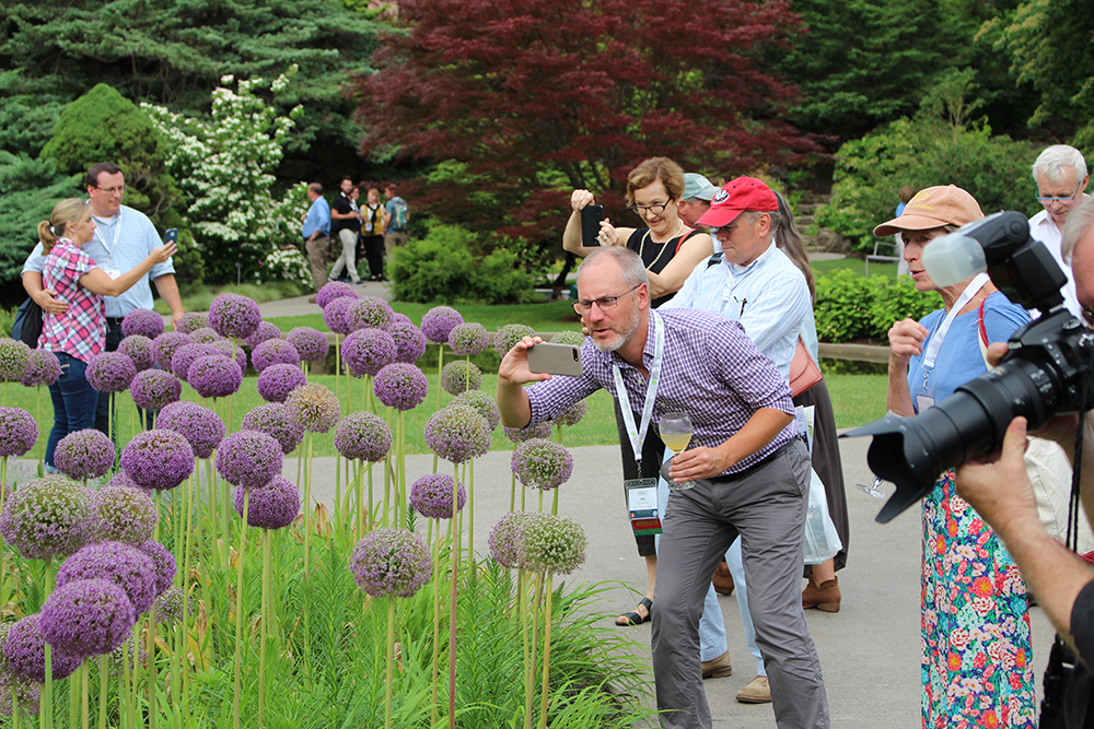 RBG Visitors enjoying flowers