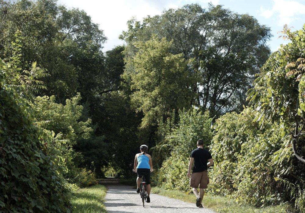 Rail trail cycling biking hiking