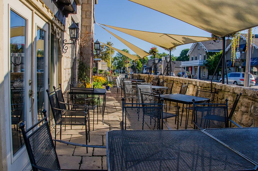 Rousseau House patio