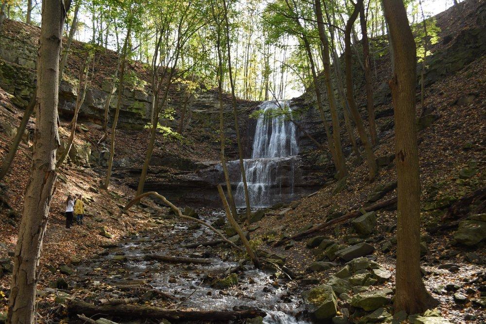 Sherman Falls in summer