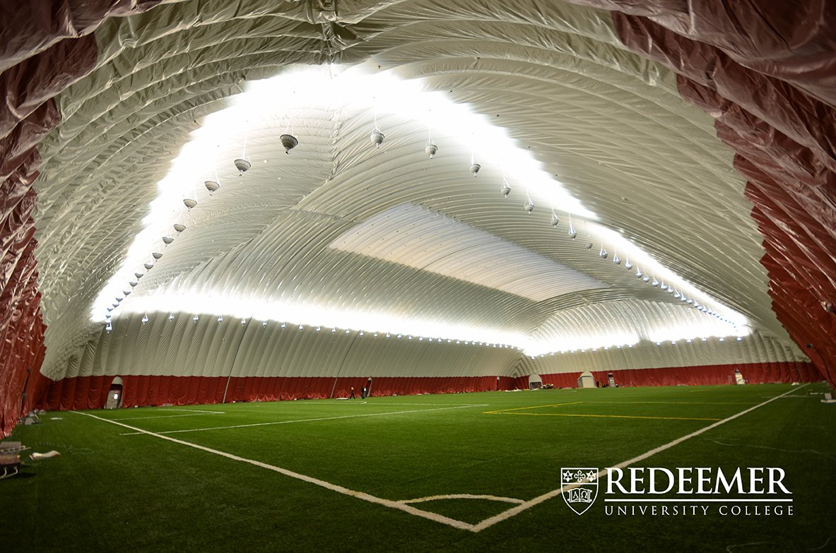 Redeemer College sports complex with dome