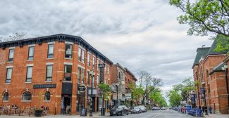 James St. streetscape