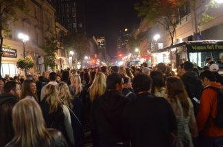 Supercrawl crowd at night