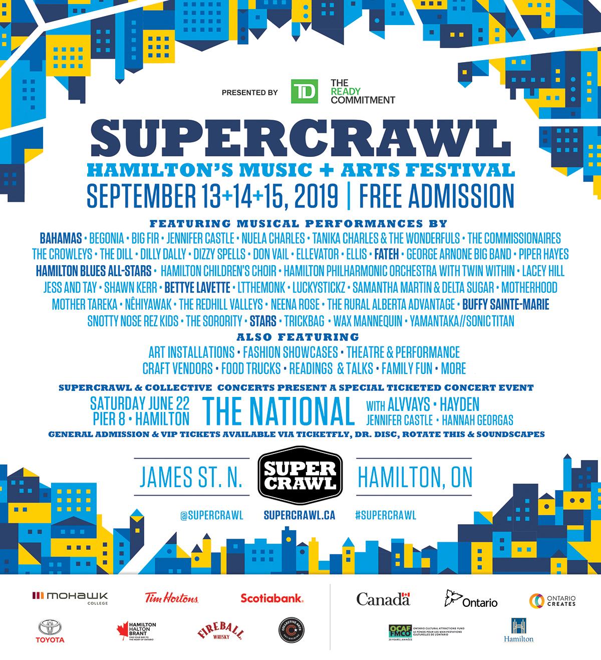 Supercrawl lineup
