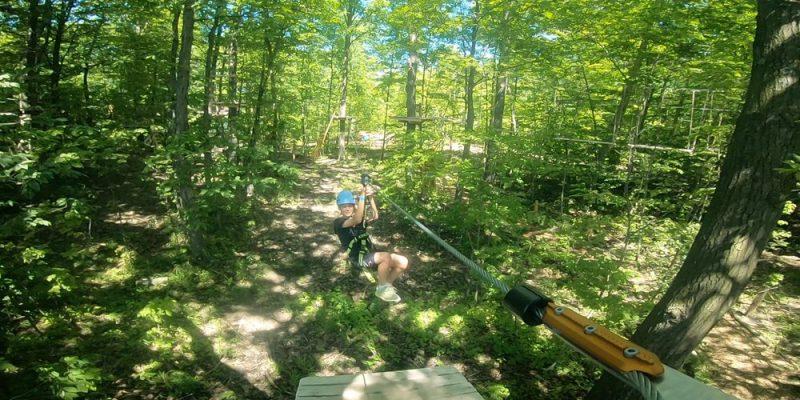 Zipline at Treetop Trekking
