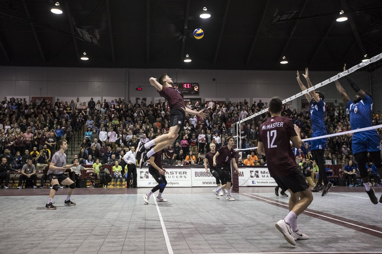 Volleyball game at McMaster University