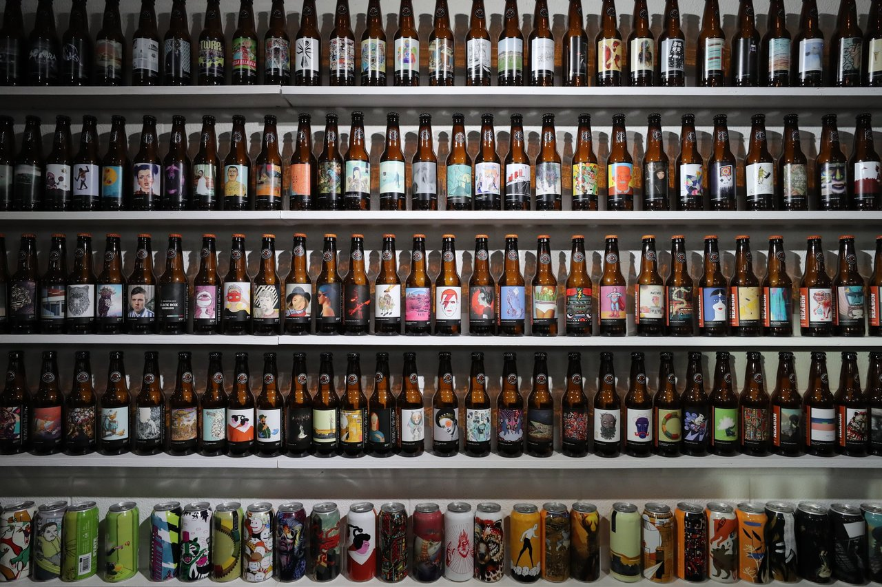 Collective Arts beer wall