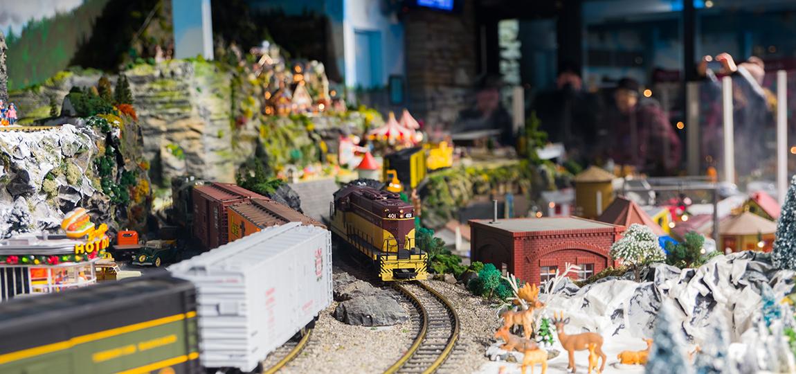 Train exhibit at RBG