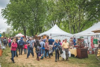 Vendors at Antique and Vintage show