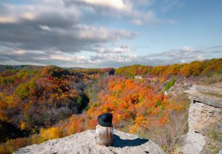 flyzone - dundas peak in fall