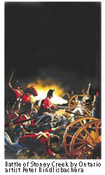 Battle of Stoney Creek by Ontario artist Peter Rindlisbacher