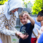 Grade 2 students participating in the educational programming at Dundurn National Historic Site, Hamilton, Ontario