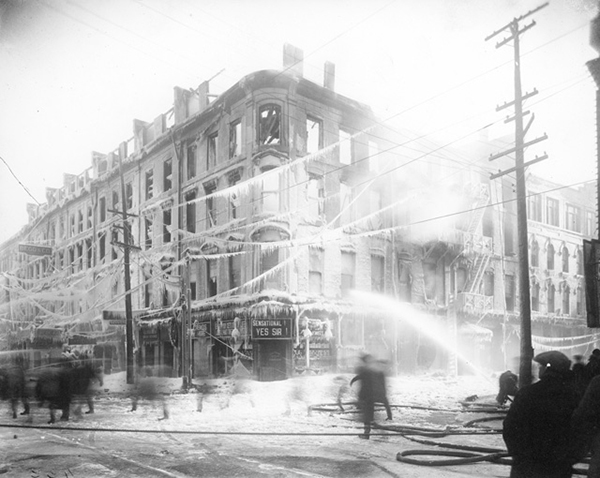 Lister Fire 1923 - Credit Local History & Archives, Hamilton Public Library