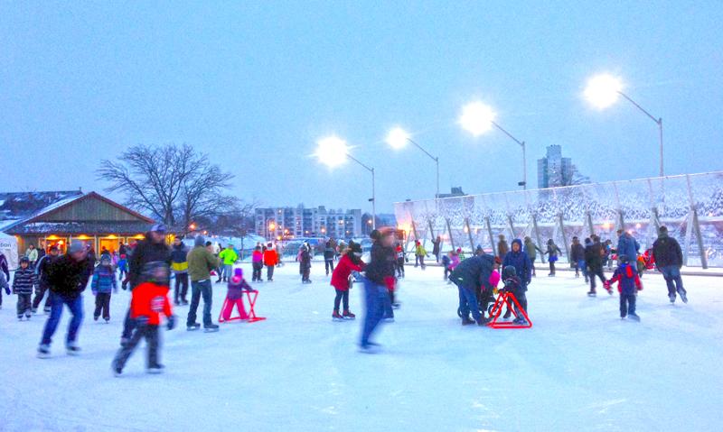 Pier 8 skating