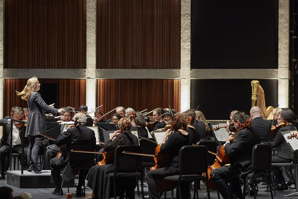 HPO performers on stage