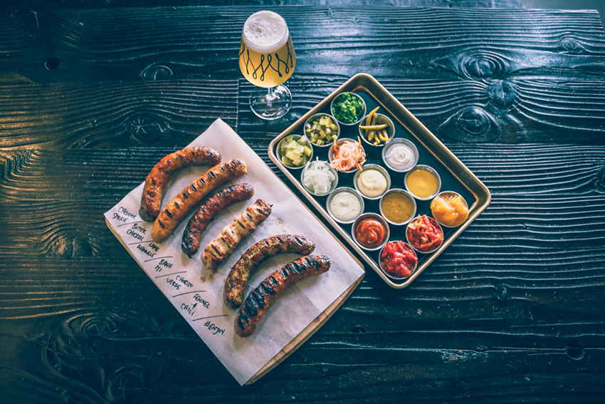 Merit Brewing - photo of sausages and sides