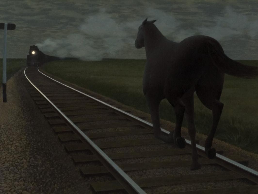 AGH Alex Colville, Horse & Train