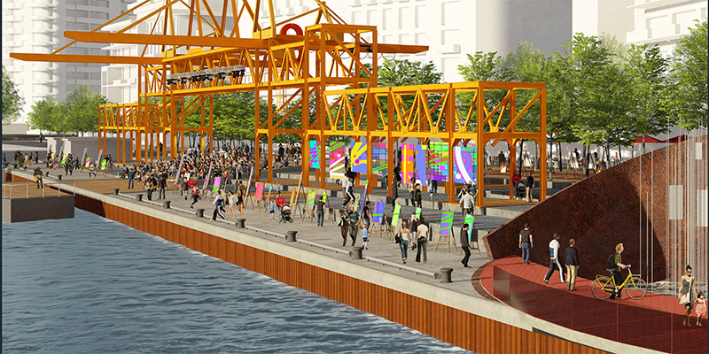 Groundbreaking Pier 8 Promenade - Hammer City, winner of the Pier 8 Promenade Park design competition